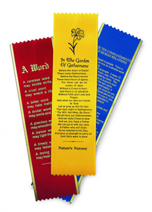 Custom Printed Ribbon Bookmarks